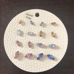 Cluster of earrings